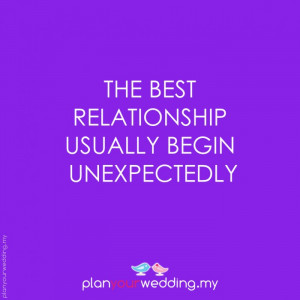 The best relationship usually begin unexpectedly