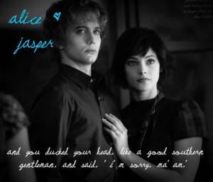 Alice & Jasper Alice and Jasper