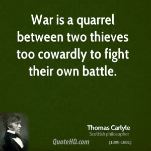 Thomas Carlyle War Quotes