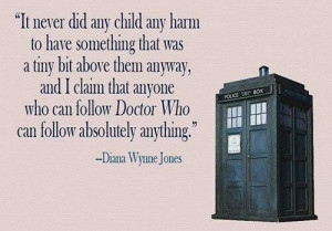 The author of Howl's moving castle talking about Doctor Who!