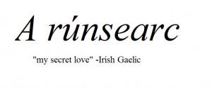Irish Gaelic term for love