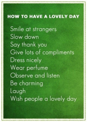 Friday Quotes: How To Have A Lovely Day