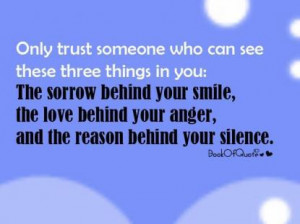 Only Trust Someone...