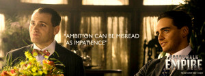 Boardwalk Empire Lucky Luciano Ambition Quote Wallpaper