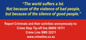 Stop Crime Quotes