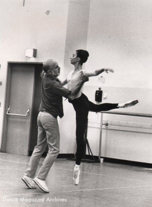Jerome Robbins with Kay Mazzo rehearsing Robbins' Dances at a ...