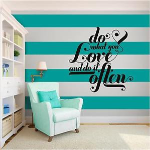 Do-what-you-Love-Inspirational-Vinyl-Wall-Art-Quote-Family-Word-Phrase ...
