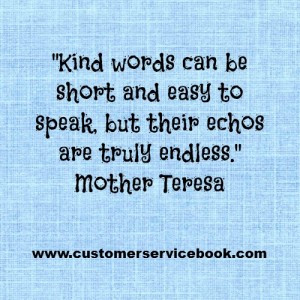 Inspirational Customer Service Quote – Mother Teresa