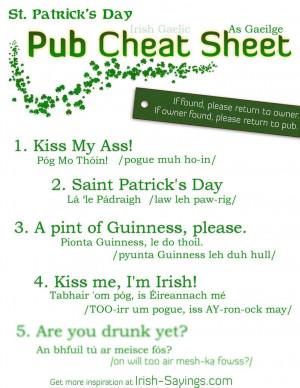 Irish Proverbs And Sayings...