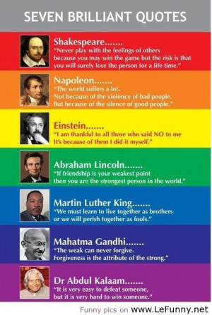 awesome Seven brilliant quotes