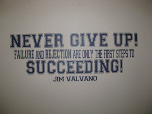 Never Give Up Jim Valvano Motivating Quote Wall Decal Vinyl Wall ...