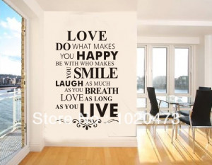 Love Quotes -Love As Long As Your Life!Family Letter Love Wall Quotes ...