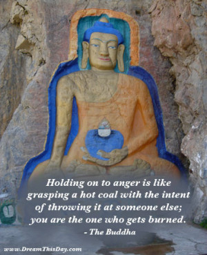 You create stress in your life by getting angry,