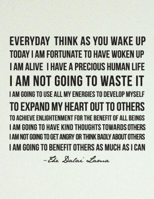 Dalai Lama Quote. I need to live by these words more. #Dalai #Lama # ...