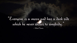 mark twain dark side wallpaper Moon Has a Dark Side | Mark Twain