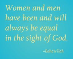 Baha'i quote More