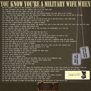 You Know You're A Military Wife When ... - Digital Scrapbooking ...