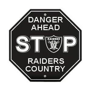 Oakland Raiders Stop Sign ~ NEW