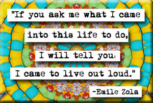 Emile Zola Live Out Loud Refrigerator Locker Quote Magnet or Pocket ...