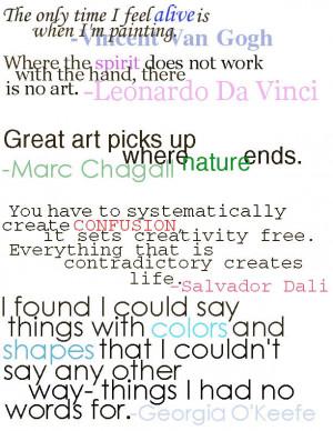 Quotes-Favorite Famous Artists by XxTheLneWolfxX