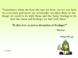 love or deception of feelings Image