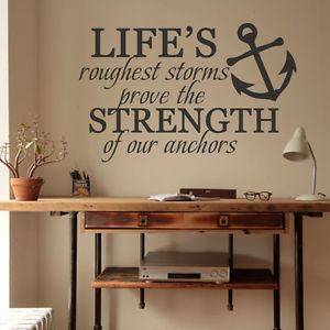 Inspirational-Wall-Decal-Life-Quote-Nautical-Anchor-Vinyl-Removable ...