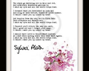 Sylvia Plath Mad Girl's Love So ng Original ART PRINT ...