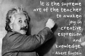 Science Teacher Quotes Albert Einstein