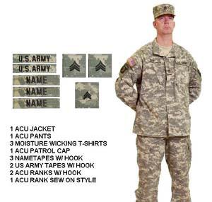 Army Combat Uniform ACU Package Deal