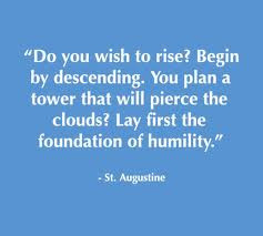 St. Augustine quote on humility