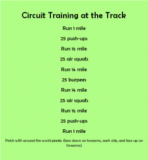 """... circuit training outdoor / This would be """"fun"""" to mix up a workout"""