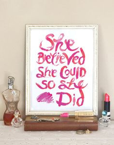 - Pink - Red - Lipstick - Inspirational Quote Decor, Red Lipsticks ...
