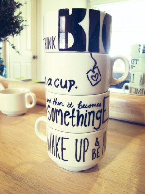 Inspirational Quotes and Customized Coffee Mug