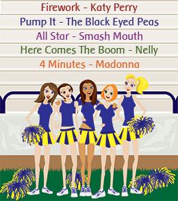 Cheerleading songs