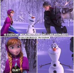 Olaf's face in that last picture is the one I give family members who ...