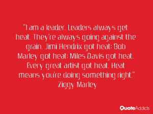 am a leader. Leaders always get heat. They're always going against ...