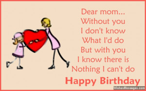 Cute Happy Birthday Greeting Cute birthday greeting for mom