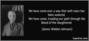 We have come over a way that with tears has been watered, We have come ...