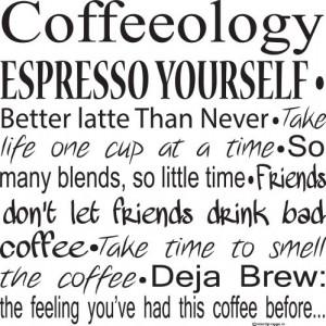 ... Decals-Coffee Quotes-Coffee Decals- Coffee Decor- Coffee Wall Sayings