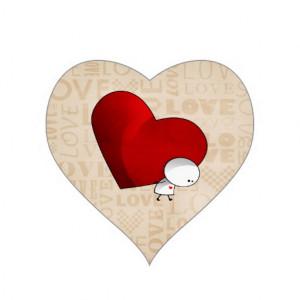 Heavy Heart Stickers
