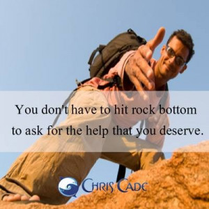Inspirational Quotes & Pictures / And if you do hit rock bottom ...