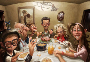 family affair humor funny photoshop painting inspiration design art