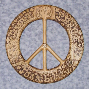 words of peacejohn lennon quoteswood burned peace by signsofspirit $ ...