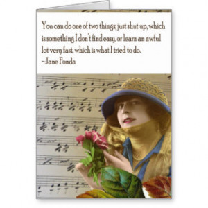 Jane Fonda Quote Collage Greeting Card