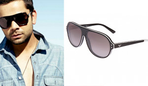 Virat Kohli looking very stylish posing in Emporio Armani Sunglasses ...