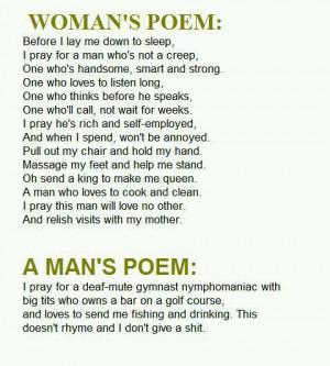 Women's Poem vs. Men's poem