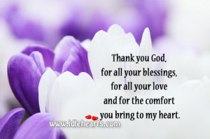 Thank You Lord For All The Blessings Thank you god, for all your