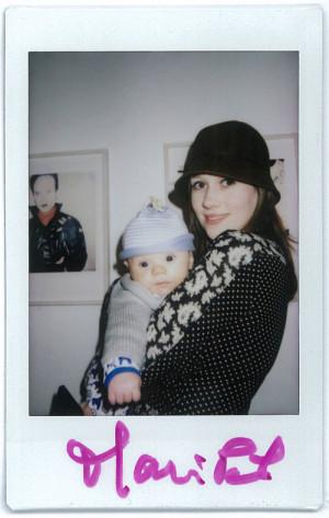 Maripol Christiana and Caspian 2015 Polaroid