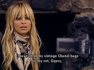 chanel, movie quotes, nicole richie