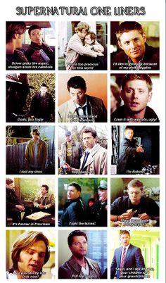 Supernatural One-Liners Seasons 1 through 8 More